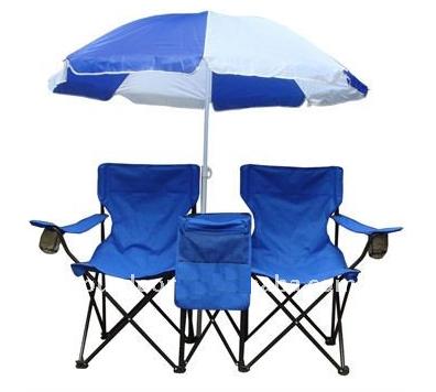 זוג כסאות מתקפלים לים עם שימשיה
