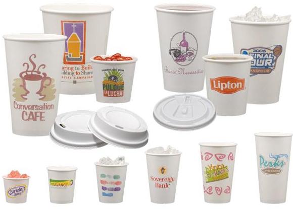 כוסות נייר ממותגות