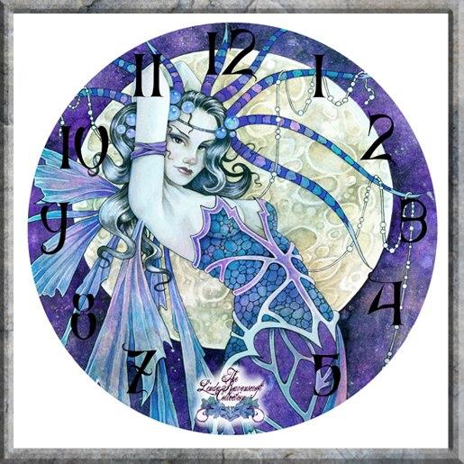 שעון קיר פיה סגלגלה