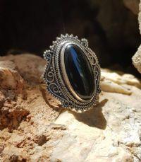 טבעת אוניקס שחור