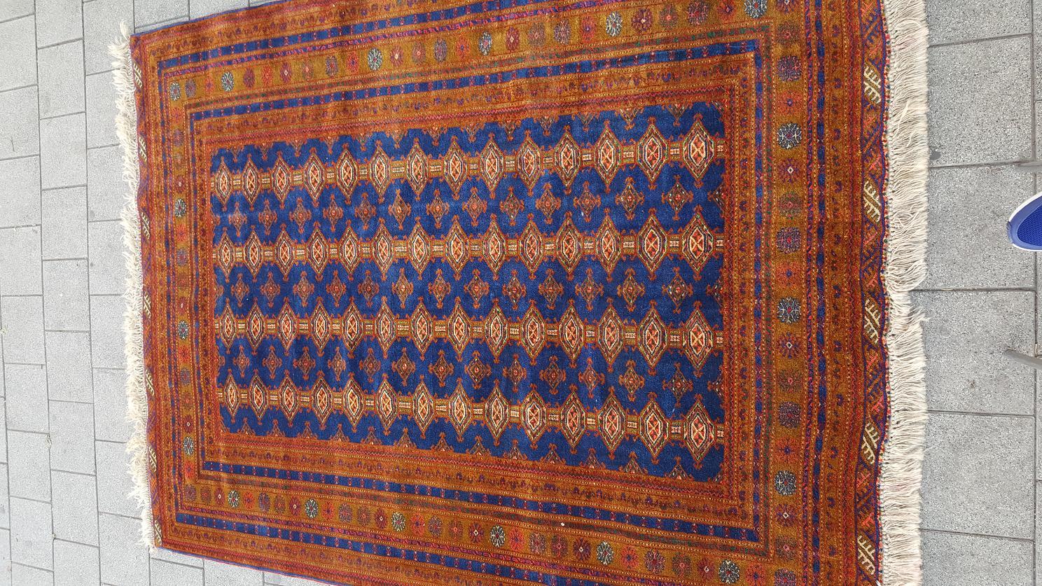 שטיח אפגני כחול