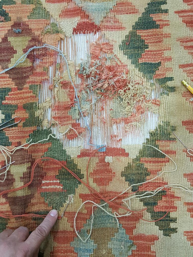 מהלך תיקון שטיח קילים 2