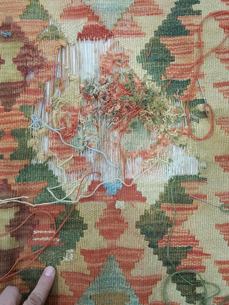 מהלך תיקון שטיח קילים 3
