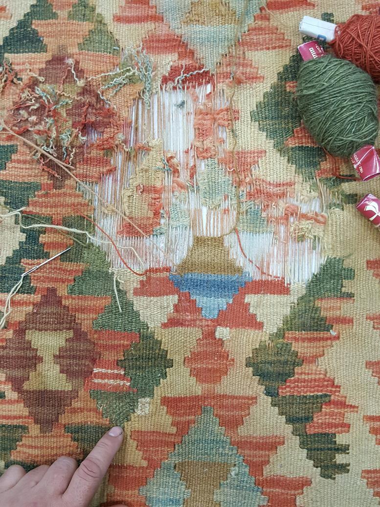 מהלך תיקון שטיח קילים 4