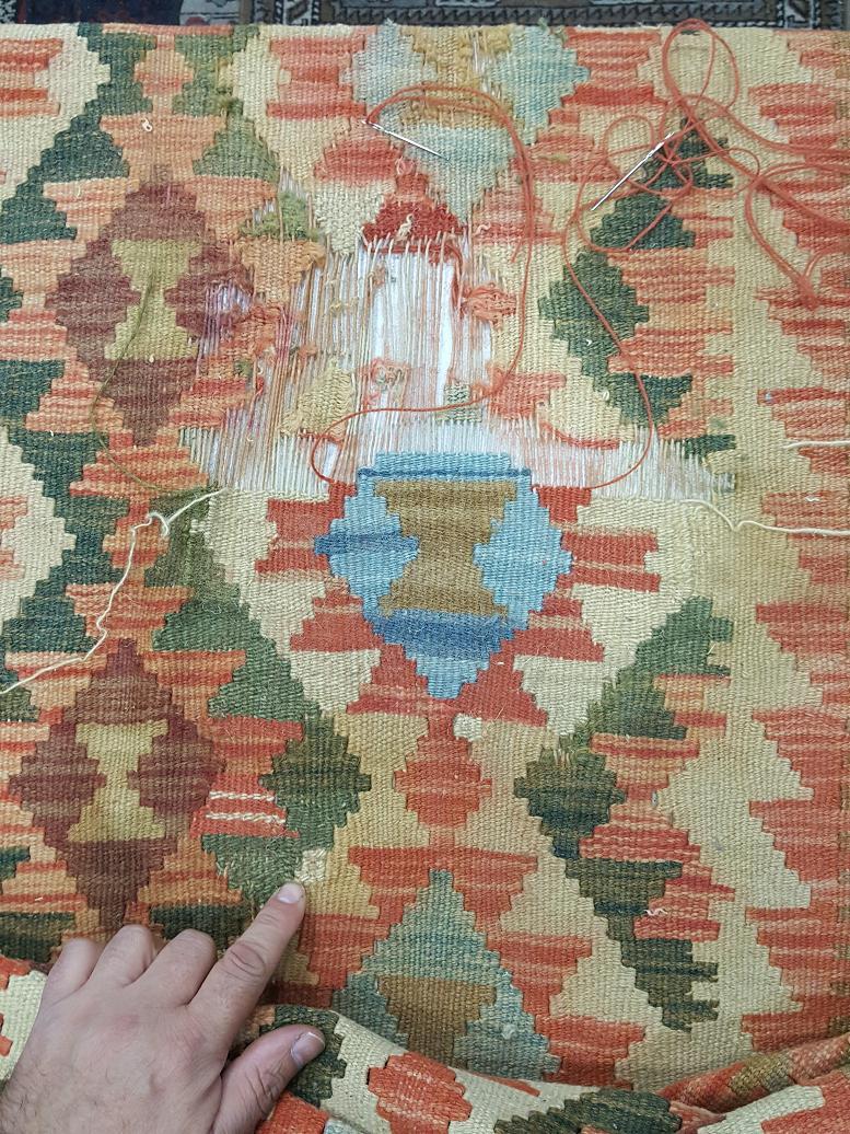 מהלך תיקון שטיח קילים תמונה 5