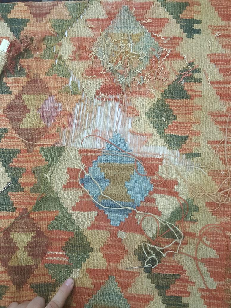 מהלך תיקון שטיח קילים תמונה 6