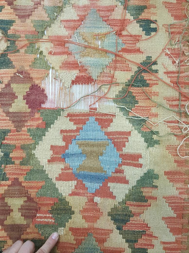 מהלך תיקון שטיח קילים תמונה 7