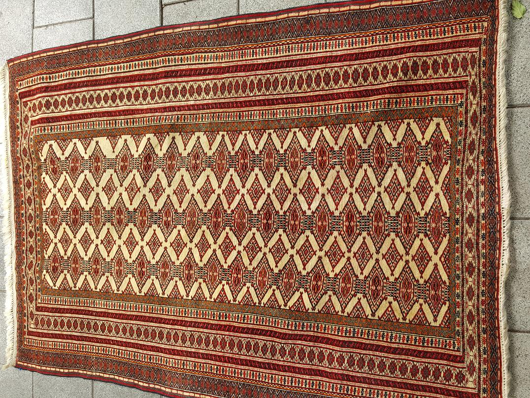 טורקמני עתיק אריגה מאד דקה וצפופה