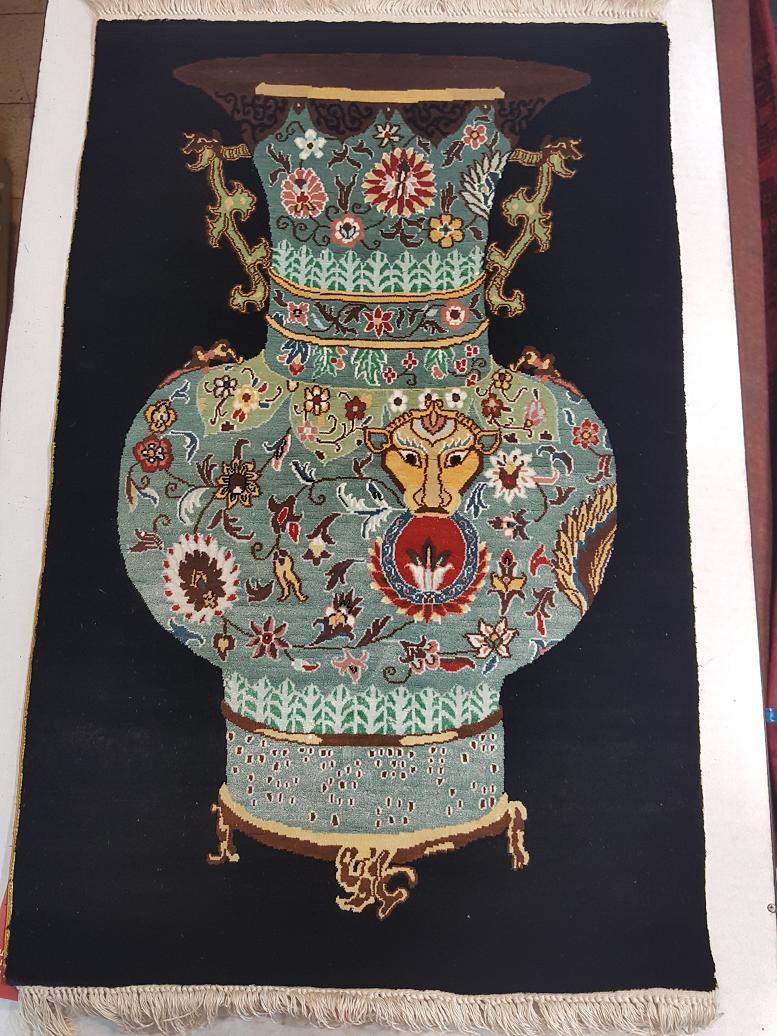שטיח משי תמונה צפוף ביותר 800000קשר למטר