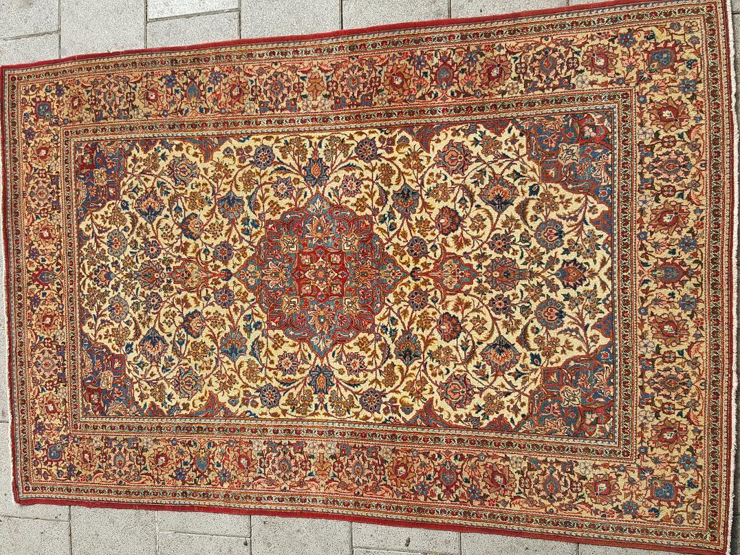 שטיח פרסי קשאן איכותי צמר קורק