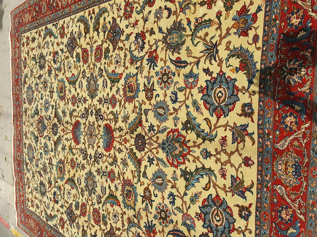 שטיח פרסי קום עתיק מצב מעולה