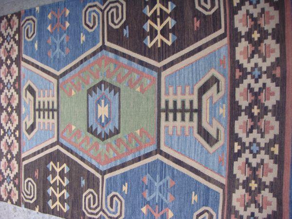 שטיח קילים כחול אפור