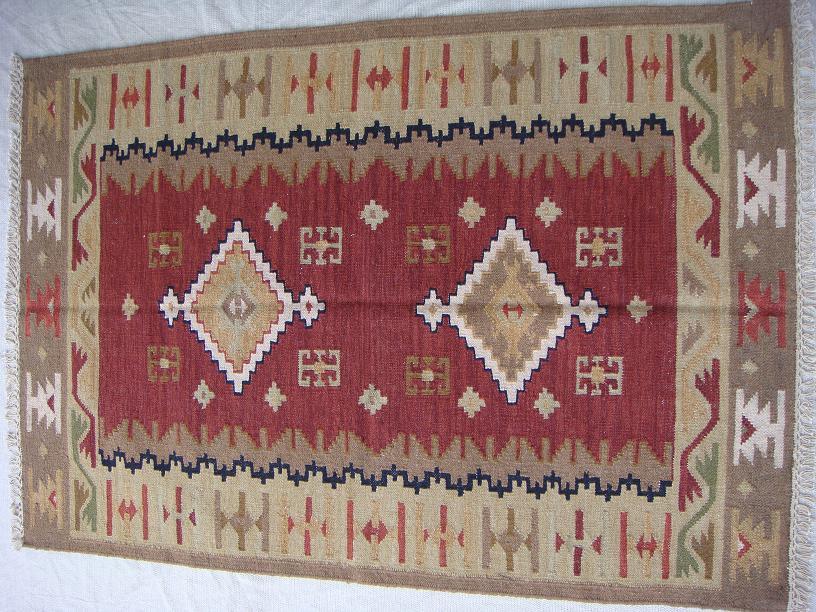 שטיח קילים אדום-חום