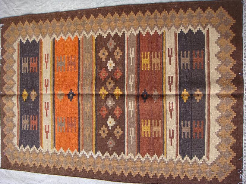 שטיח קילים חום כתום