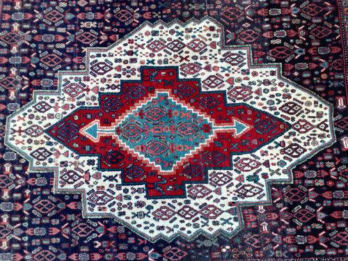 שטיח פרסי סנה צפוף וחזק
