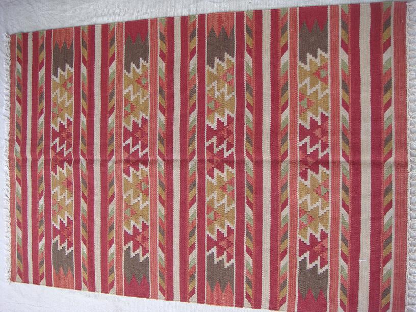 שטיח קילים פסים אדום