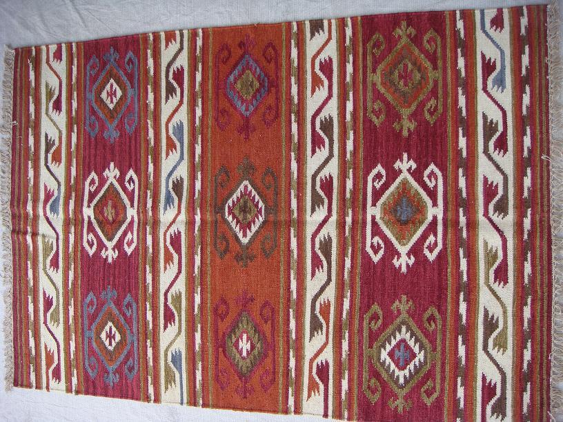 שטיח קילים אדום כתום