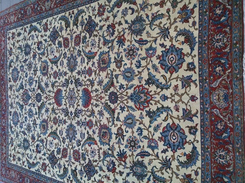 שטיח פרסי קום חצי עתיק