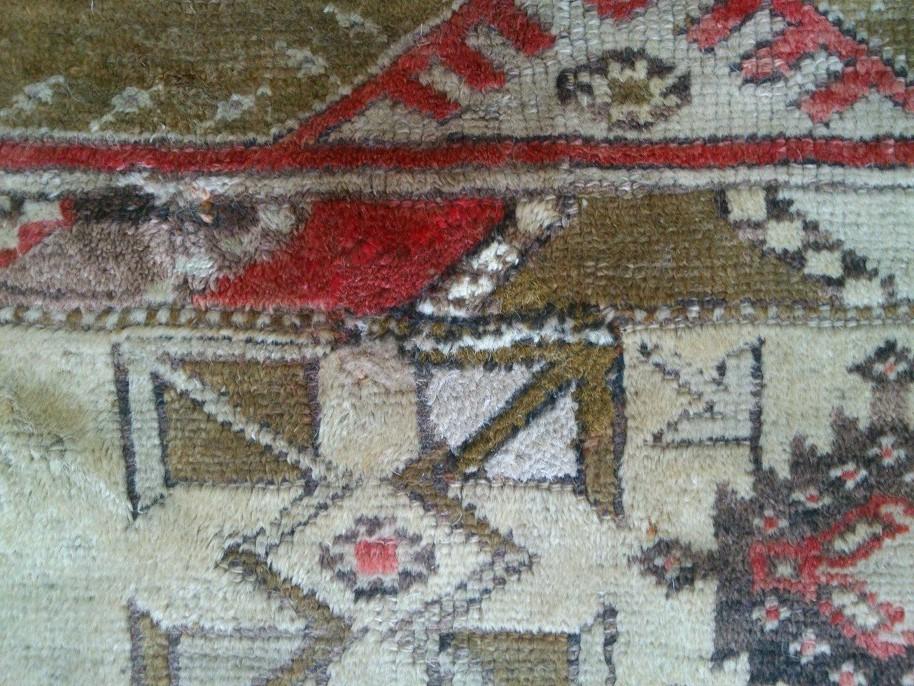 שטיח תורקי עתיק לאחר התיקון אומנותי