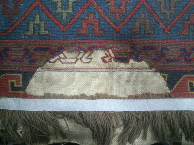 חור לשטיח קילים סומק
