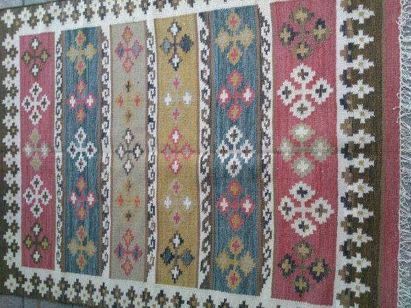 שטיח קילים נחמד ורוד תכלת