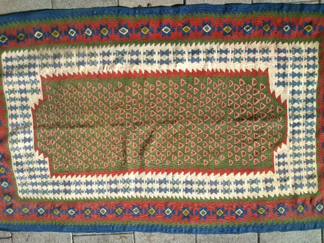 שטיח קילים פרסי מסוג סנה מיוחד חצי עתיק