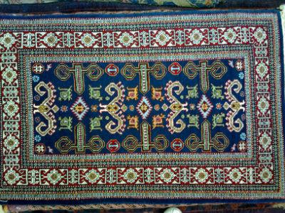 שטיח קבקזי כחול