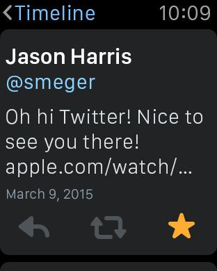 מסך שעון אפל של טוויטר