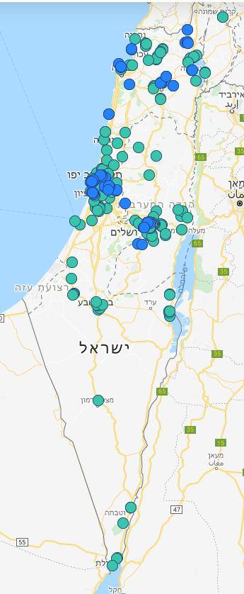 מפת הקורונה הישראלילת