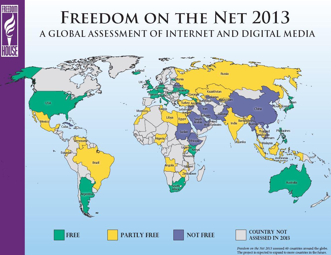 מפת החופש העולמי באינטרנט