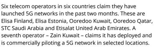 5G Operators