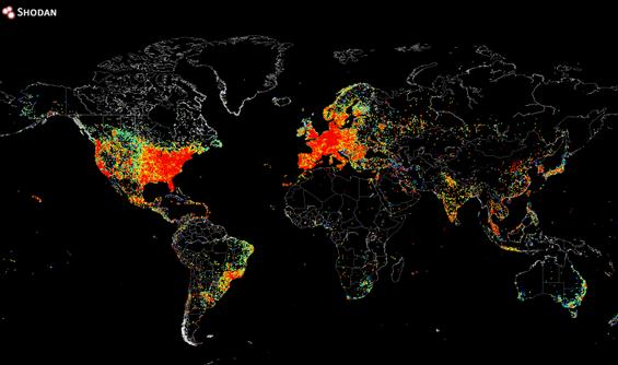 מפת המכשירים באינטרנט