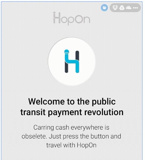מסך HopOn