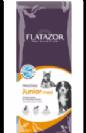 """פלטזור Flatazor מזון לגורי כלבים מגזע גדול, מתאים גם לכלבות הרות ומניקות מגזע גדול משקל 15 ק""""ג"""