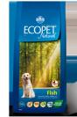 "ecopet natural- מזון יבש לכלבים על בסיס דג במשקל 2.5 ק""ג"
