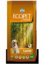 "ecopet natural- מזון יבש לכלבים על בסיס כבש במשקל 2.5 ק""ג"