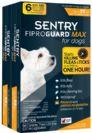 """אמפולות סנטרי גארד מקס נגד פרעושים וקרציות לכלב עד 2-10 ק""""ג SENTRY"""