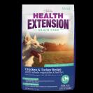 """Health Extension's Grain Free Chicken & Turkey מזון יבש אולטרה פרמיום לכלב במשקל 10 ק""""ג לכל סוגי הכלבים"""