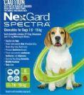 """נקסגארד ספקטרה לכלבים במשקל 7.5-15 ק""""ג"""