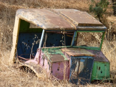 רכב שעבר זמנו גרוטאה משאית מגן ילדים
