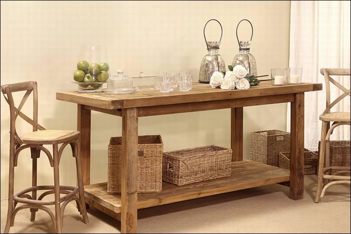 שולחן (אי ) למטבח, סדרת עץ אלון WILD