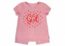 חולצת לייקרה טקטורלית עם הדפס לתינוקות בנות