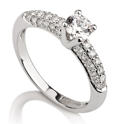 טבעת אירוסין - Pave