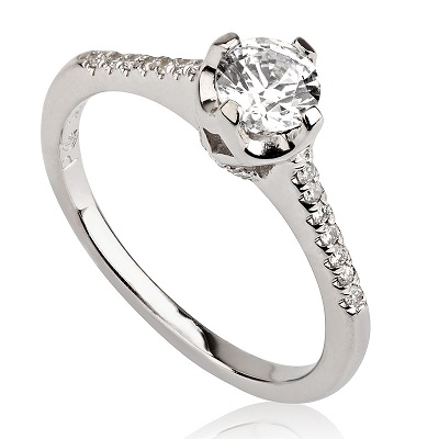טבעת אירוסין - Crown