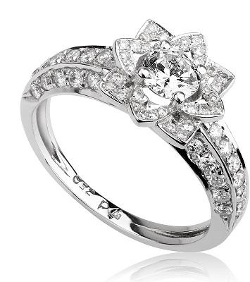 טבעת אירוסין מיוחדת - Flower