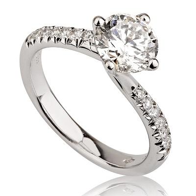 טבעת אירוסין מיוחדת - Twist