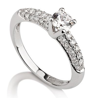 טבעת אירוסין מיוחדת - Pave