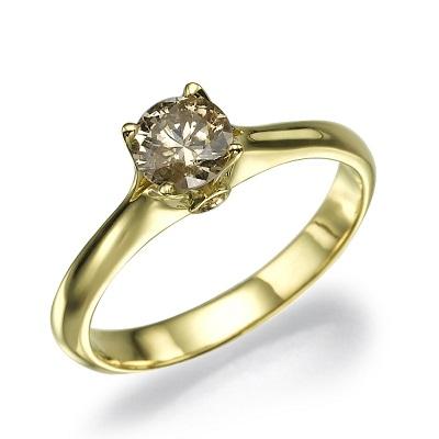 טבעת אירוסין זהב צהוב - Mia