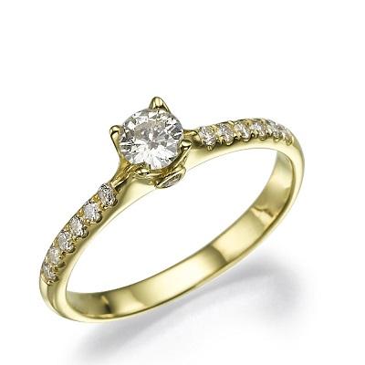 טבעת אירוסין זהב צהוב - Mia 5
