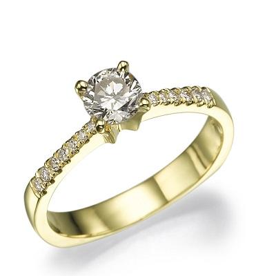 טבעת אירוסין זהב צהוב - 4X